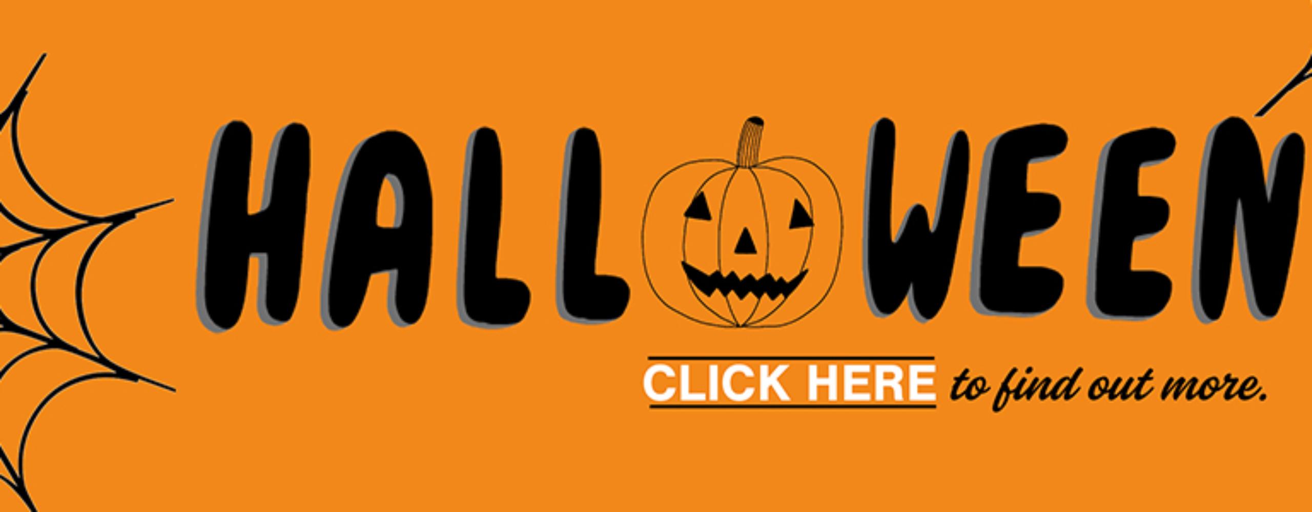 Halloween website Banner – Albert Sqaure